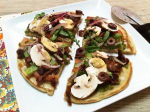 Quinoa pizza crust will have everyone happy.